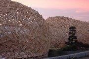 Pavillon bei Sonnenuntergang